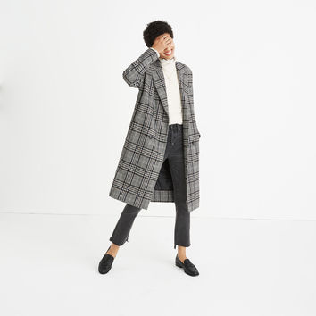 Plaid Goodwin Oversized Topcoat : shopmadewell coats | Madewell