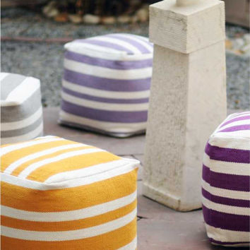 Mason Pouf - Buy Hand Woven Cotton Pouf Online Free Shipping – The Rug Republic