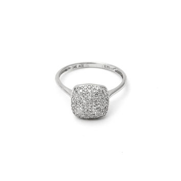 Cluster Diamond Cushion Ring