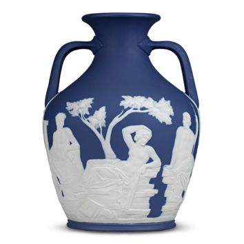 Antique Porcelain, Wedgwood, Jasperware Portland Vase by Thomas Lovatt at rauantiques.com