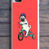 Funny Pug Riding iPhone 5C Case