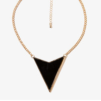 Lacquered Arrowhead Charm Necklace