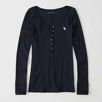 Womens Long-Sleeve Icon Henley | Womens New Arrivals | Abercrombie.com