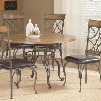 Bernards 4214 Sierra Wood Dining Table Set