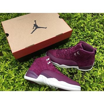 2017 Air Jordan Retro 12 Bordeaux for Man Basketball Shoes Wine red high quality Brand retro 12s Mens sport Trainer Sneakers Eur 41-47