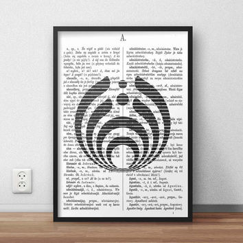 Bassnectar Logo line - A3 SIZE, (Instant Download) , 300 dpi, Awesome Design Printing, Bassnectar Poster