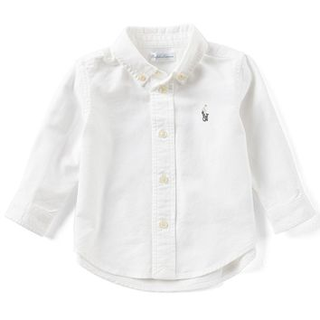 Ralph Lauren Childrenswear Baby Boys 3-24 Months Long-Sleeve Oxford Shirt | Dillards