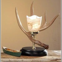 Whitetail Antler Night Table Lamp
