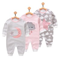 Cute baby girls clothes Children's Clothing Pajamas Newborn baby rompers cotton long-sleeved overalls Boys Girls Autumn bebes c