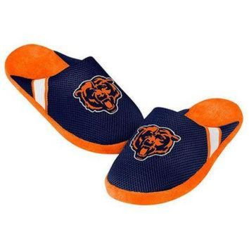 CREYON CHICAGO BEARS MEN'S OFFICIAL NFL JERSEY SLIPPERS