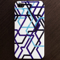 "iPhone 4 Case - ""Needlessly Confusing Subways"" Graph Drawing - custom iPhone case, art iPhone case, original art, iphone 4/4S case"