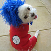 Thing 1 Thing 2 Look Alike Halloween Dog by LittleDogFashion