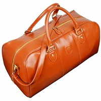 Men's Pu Leather Travel Bag Duffel Weekend Luggage Gym Sports Bag