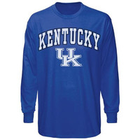 Kentucky Wildcats Midsize Long Sleeve T-Shirt - Royal Blue