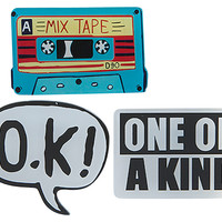 Mixtape Enamel Pin Set