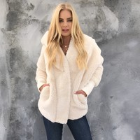 Snuggles Cream Faux Fur Jacket