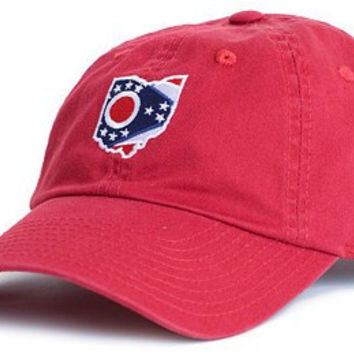 Ohio Traditional Hat in Red by State Traditions