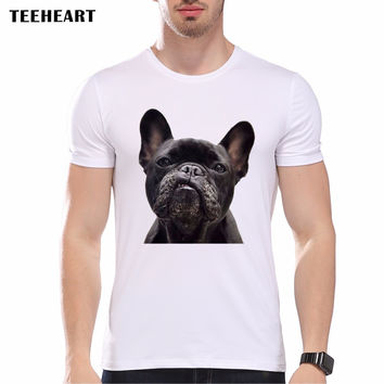 New Funny Nerd Pug French Bulldog Print Men Gentle T shirt Summer Hipster Animal Graphics Tees