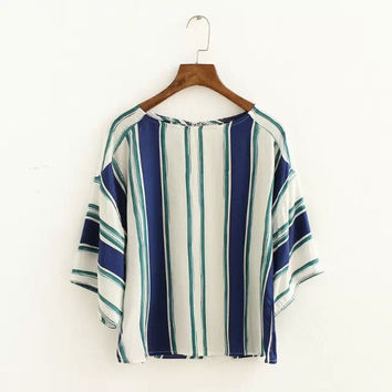 Stylish Star Stripes Cotton Shirt [6513884615]
