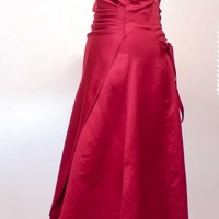 Strapless Red Apple Retro Corset Prom Dress