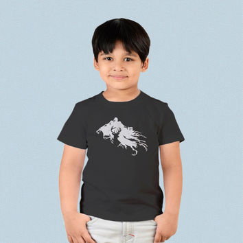 Kids T-shirt - Harry Potter Stag Patronus and Dementor