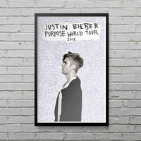 Justin Bieber Purpose World Tour Poster Print Fan Gift Tshirt Ma mama Sorry LP10