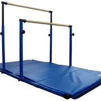 "Nimble Sports ""3Play"" Horizontal Bars with 8ft Blue Mat Combo"