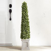 "Outdoor Faux Boxwood Cone 48"" Topiary"