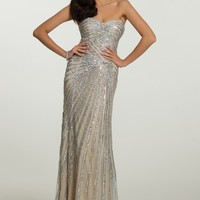 Strapless Beaded Medallion Dress from Camille La Vie and Group USA