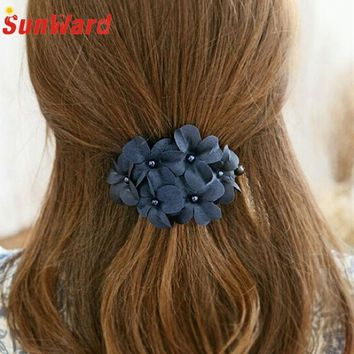 SunWard Good Deal  New Fashion Women Girl Handmade Flower Barrette Hair Clip Hair Pin Claw Xmas Gift 1PC