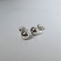 Silver Ball Stud Earrings, 6mm Ball Stud Earrings, Silver Ball Post Earrings, Tiny Silver Ball Earrings, simple earrings, Ball post earrings