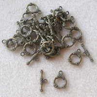 Toggle Clasp Antique Brass Ring and Bar Closure Findings Jewelry Design Craft Supplies Bead Supplies Jewelry Supplies Necklace Clasps (1)