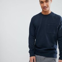 FoR Sweatshirt With Detail In Navy at asos.com