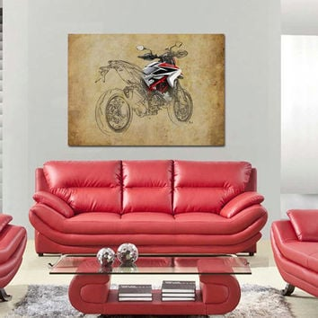 40x28 in. Ducati XII, 100x70cm Art Print poster based on an original art,