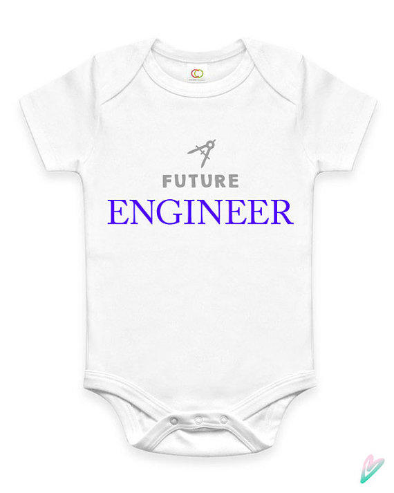 Baby Gifts For Engineers : Cute future engineer baby clothes infant from teenietees