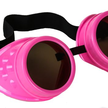 Hot Pink Cosplay Goggles Mad Scientist Wielder Glasses DIY Halloween Costume