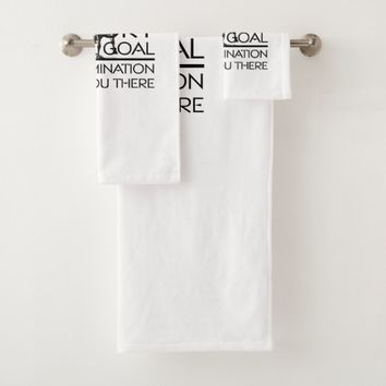 TOP Horse Racing Victory Slogan Bath Towel Set