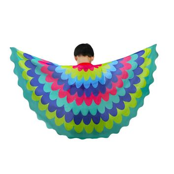 D.Q.Z 120*70 cm Super Heroes Party Peacock Shawl Girls Costume Child Toys Cosplay Dance Show Gifts Kids Halloween Costumes