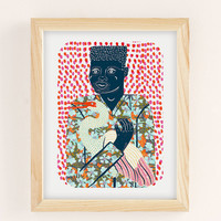 Camilla Perkins Gentleman With Egret Art Print | Urban Outfitters