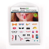HAND JIVE FINGER TEMPORARY TATTOOS