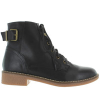 Wanted Nellis - Black Lace-Up Bootie