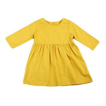 Toddler Baby Kids Girls Clothes Dress Long Sleeve Tutu Cute Pageant Princess Party Mini Dresses Girl