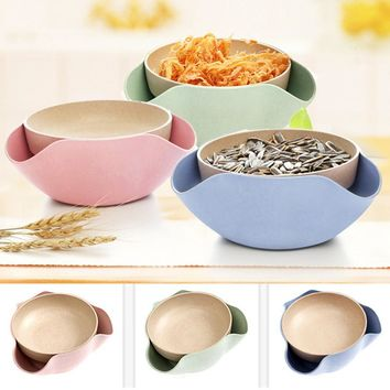 New Qualified  Creative Shape Bowl Perfect For Seeds Nuts And Dry Fruits Storage Box Plastic  Container  Organizer Case Hot