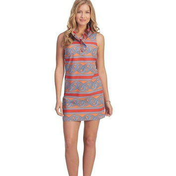 Mud Pie Ladies Whitney Ruffle Dress, Tangerine