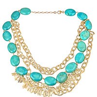 K. Amato Gold and Turquoise Necklace - Max and Chloe
