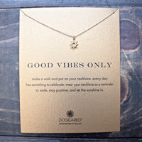 "dogeared ""Reminder - Good Vibes Only"" 16"" dainty necklace"
