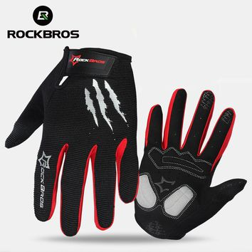 ROCKBROS Cycling Gloves Sponge Pad Long Finger Motorcycle Gloves
