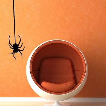 Vinyl Wall Decal Sticker Hanging Spider #OS_MB332