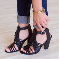 Auden Caged Heels - Black
