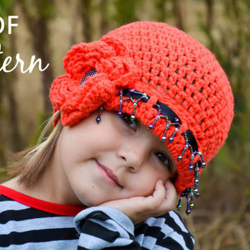 Vintage Inspired Flower Cloche Hat  Crochet Pattern - Newborn to Adult
